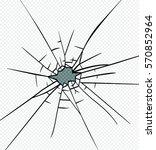 broken glass effect. hole in... | Shutterstock .eps vector #570852964