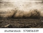 dirt fly after motocross... | Shutterstock . vector #570856339