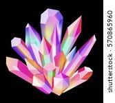 vector illustration shining... | Shutterstock .eps vector #570865960