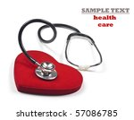 a doctor's stethoscope... | Shutterstock . vector #57086785