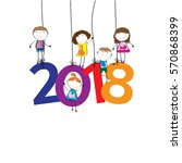 colorful card for new year 2018 ...   Shutterstock .eps vector #570868399