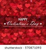 valentine's day vector... | Shutterstock .eps vector #570871093