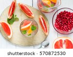 grapefruit and pomegranate... | Shutterstock . vector #570872530