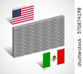 wall between the united states... | Shutterstock .eps vector #570874198