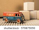 free delivery van  vintage toy...   Shutterstock . vector #570875050