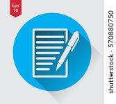 notepad symbol. simple flat...   Shutterstock .eps vector #570880750