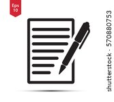 notepad symbol. simple flat... | Shutterstock .eps vector #570880753