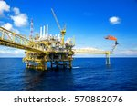 offshore construction platform... | Shutterstock . vector #570882076