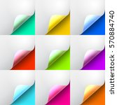 set the curved glossy corners ... | Shutterstock .eps vector #570884740