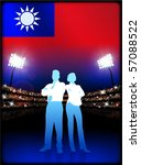 taiwan flag with business... | Shutterstock .eps vector #57088522