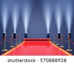 red carpet with spotlights  ... | Shutterstock . vector #570888928