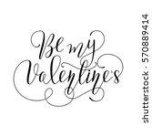 hand drawn card valentine's day....   Shutterstock .eps vector #570889414