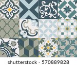 vintage tiles intricate details ... | Shutterstock .eps vector #570889828