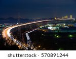 great seto bridge and... | Shutterstock . vector #570891244