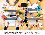 interacting as team for better... | Shutterstock . vector #570891430