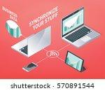 business synchronization ... | Shutterstock .eps vector #570891544