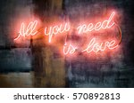 lighting words on a concrete... | Shutterstock . vector #570892813