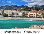 beautiful view of promenade and ... | Shutterstock . vector #570894070