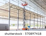 scissor lift platform with... | Shutterstock . vector #570897418