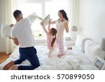 people  family and morning... | Shutterstock . vector #570899050