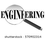 engineering text viewed under... | Shutterstock .eps vector #570902314