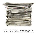 Pile Of Newspapers Isolated On...