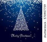 christmas tree. vector... | Shutterstock .eps vector #570907759