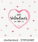 happy valentines day card ... | Shutterstock .eps vector #570910489
