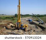 view of drilling machine ... | Shutterstock . vector #570913324