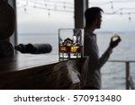 hero shot of whiskey on the... | Shutterstock . vector #570913480