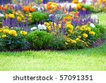 Multicolored Flowerbed On A...