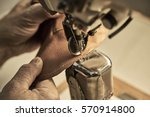 shoe production process in... | Shutterstock . vector #570914800