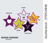 design thinking diagram... | Shutterstock .eps vector #570914848