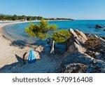 summer morning  platanitsi... | Shutterstock . vector #570916408