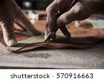 shoe production process in... | Shutterstock . vector #570916663