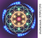 symbols of sacred geometry ... | Shutterstock .eps vector #570917293