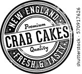 vintage crab cakes sign for... | Shutterstock .eps vector #570917626