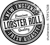 vintage lobster roll sign for... | Shutterstock .eps vector #570917638