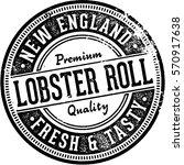 vintage lobster roll sign for... | Shutterstock .eps vector #570917638
