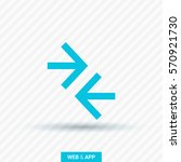 contact vector icon. arrows... | Shutterstock .eps vector #570921730