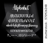 alphabet  hand print  letters ... | Shutterstock .eps vector #570926248