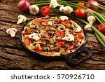 traditional  wild mushroom... | Shutterstock . vector #570926710