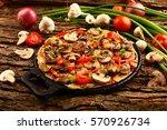 delicious homemade mushroom... | Shutterstock . vector #570926734