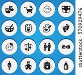 set of 16 editable kid icons....