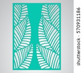 die cut card. laser cut vector... | Shutterstock .eps vector #570931186