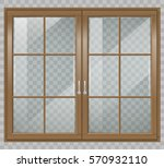classic wooden window and... | Shutterstock .eps vector #570932110