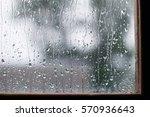 Water Drops On Window Wet Glass ...