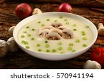 white bowl of tasty appetizer ... | Shutterstock . vector #570941194