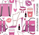 pattern for woman.fashion... | Shutterstock .eps vector #570944188