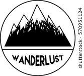 wanderlust logo. design of... | Shutterstock .eps vector #570951124